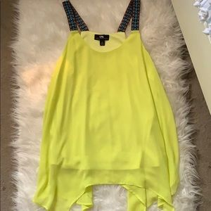 I.N. San Francisco Tops - Neon green tank top